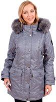 X Canada Women's Long Parka Winter Coat with Faux Fur Lined Hood