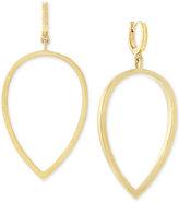 Vince Camuto Gold-Tone Huggy Drop Hoop Earrings