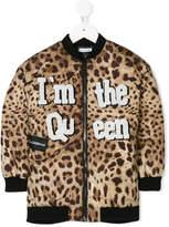Dolce & Gabbana Queen patch bomber jacket