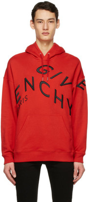 Givenchy Red Big Embroidered Refracted Hoodie