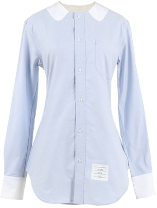 Thom Browne Blue Cotton Top for Women
