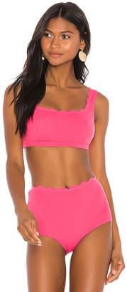 Marysia Swim Reversible Palm Springs Sporty Bikini Top