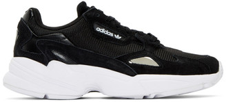 adidas Black and Silver Falcon Sneakers