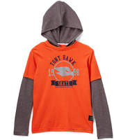 Red Clay Hooded Layer Tee - Boys