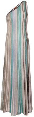 Missoni One-shoulder striped maxi dress