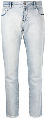 Emporio Armani Cropped Slim-Fit Jeans