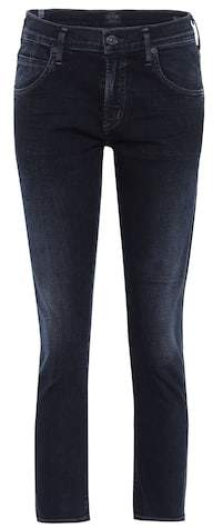 Citizens of Humanity Elsa mid-rise cropped slim-fit jeans