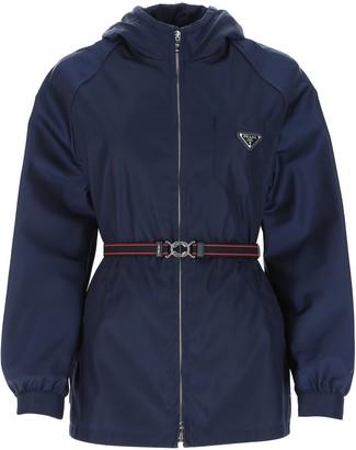 Prada Belted Hooded Jacket