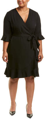 Lea & Viola Plus Ruffle Wrap Dress