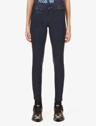 Paige Hoxton skinny high-rise faux-leather jeans