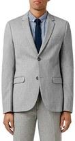 Topman Men's Skinny Fit Marl Jersey Blazer