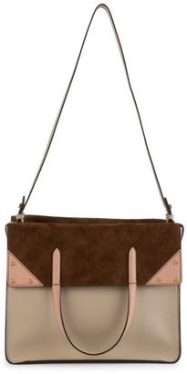 Fendi Flip Leather & Suede Crossbody Bag