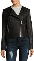 Andrew Marc Riley Leather Asymmetrical Motorcycle Jacket