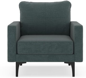 Corrigan Studio Woodsburgh Armchair Fabric: Aegean Blue, Leg Color: Brass