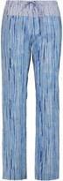Tory Burch Shibori printed cotton-poplin wide-leg pants