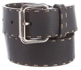 Fendi Leather Buckle Belt