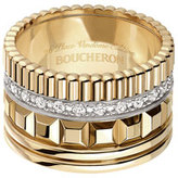 Boucheron Quatre 18K Yellow Gold Ring with Diamonds, Size 54