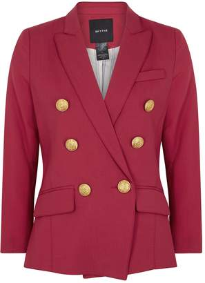 Smythe Mini DB Red Double-breasted Wool Blazer