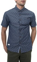 7 Diamonds Men's Wavelength Woven Chambray Shirt