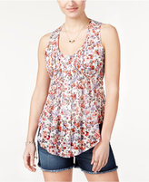 American Rag Printed Pintucked Sleeveless Top, Only at Macy's