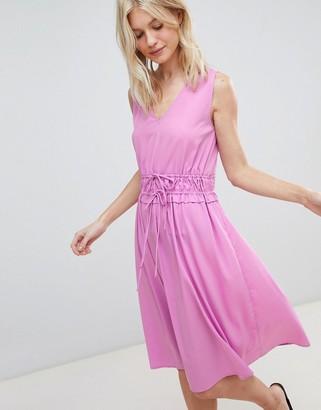 Vero Moda Waist Tie Midi Dress-Purple