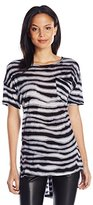 Kensie Women's Soundwave Stripes Top