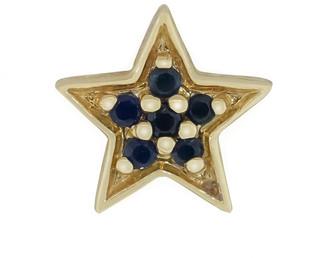 Andrea Fohrman Single Blue Sapphire Star Stud