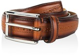 Cole Haan Stitched Edge Belt with Brogue Detail