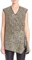 Josie Natori Sleeveless Sequin Top