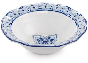 "Q Squared Talavera Azul Collection Melamine 12"" Serving Bowl"