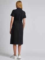 Dorothy Perkins Denim Shirt Dress Black