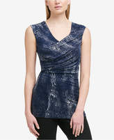 DKNY Sleeveless Ruched Top