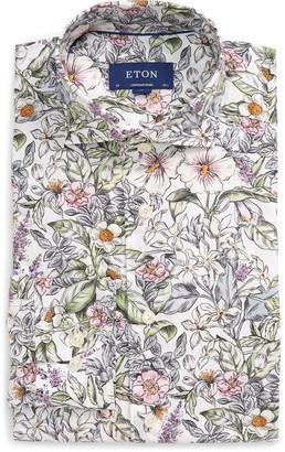 Eton Soft Collection Contemporary Fit Floral Dress Shirt