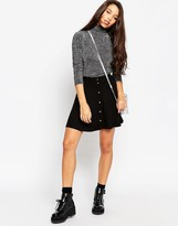 Asos Mini Skater Skirt with Poppers