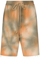 Song For The Mute tie-dyed bermuda shorts