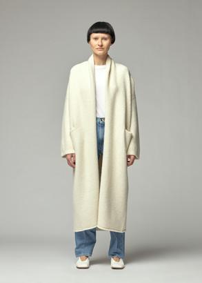 LAUREN MANOOGIAN Women's Long Shawl Cardigan Sweater in White