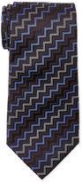 Missoni Navy Zigzag Silk Tie
