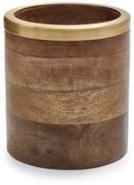 Sur La Table Mango Wood Utensil Crock