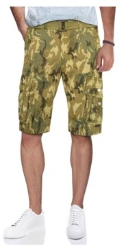X-Ray Men's Belted Snap Detail Cargo Shorts