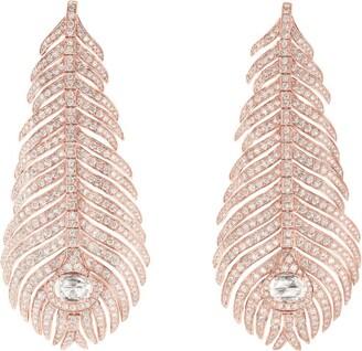 Boucheron Rose Gold and Diamond Plume de Paon Drop Earrings