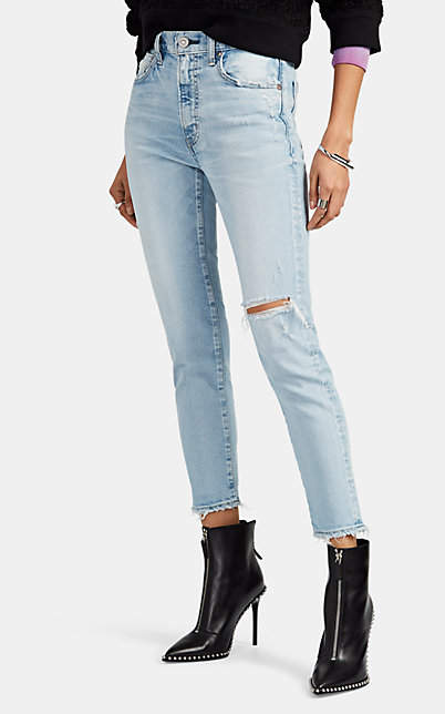 Moussy VINTAGE Women's Vivian Distressed Skinny Jeans - Blue