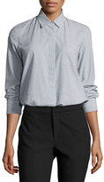Vince Mixed Stripe Button-Front Shirt, Multi