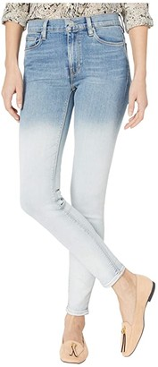 Hudson Jeans Barbara High-Rise Super Skinny in Dipped White (Dipped White) Women's Jeans