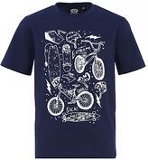 Animal Boys' Hez Graphic Printed T-Shirt, Navy