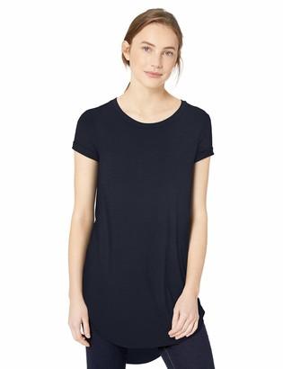 Daily Ritual Amazon Brand Women's Jersey Short-Sleeve Open Crew Neck Tunic