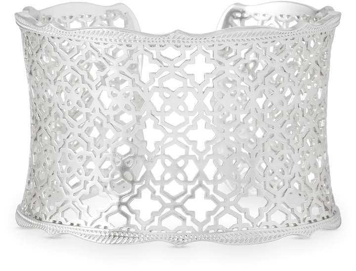 Kendra Scott Candice Silver Cuff Bracelet in Silver Filigree Mix