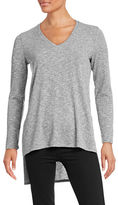 Two By Vince Camuto Ribbed V-Neck Sweater