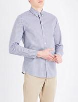 BOSS ORANGE Checked slim-fit stretch-cotton shirt