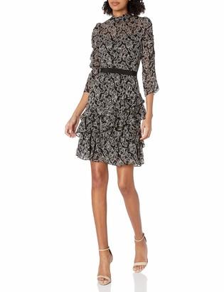 Rebecca Taylor Women's Long Sleeve Celia Lace Cocktail Dress