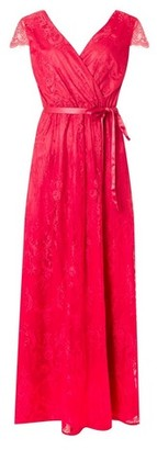 Dorothy Perkins Womens **'Showcase Fuchsia 'Isla' Lace Maxi Dress